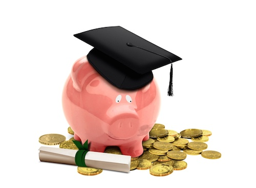 Education Fund with Piggy Bank